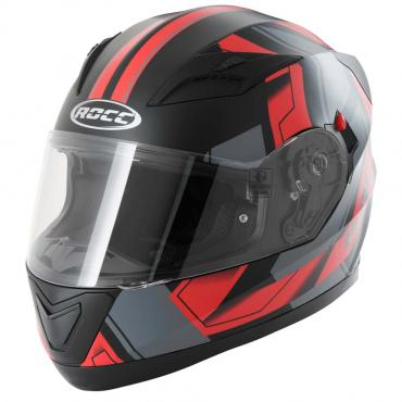 ROCC 412 integral helmet matt black/red size XS