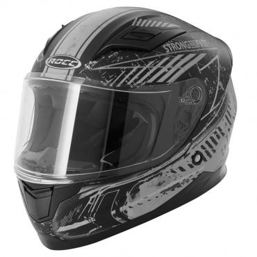 ROCC 415 JR. integral helmet Kids matt black/silver size 48
